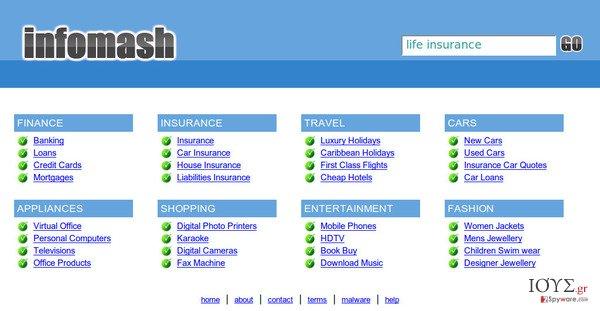 Στιγμιότυπο του InfoMash redirect