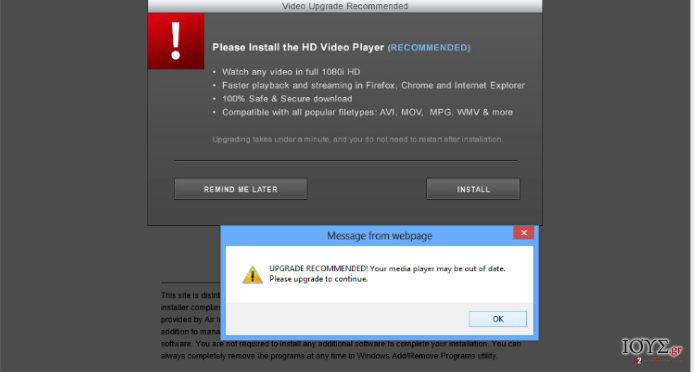 Στιγμιότυπο του Install-free.net ιός