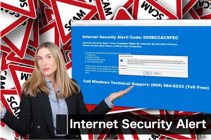 """Το μήνυμα της απάτης """"Internet Security Alert"""""""