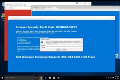 """Αναδυόμενες ειδοποιήσεις του ιού """"Internet Security Alert"""""""