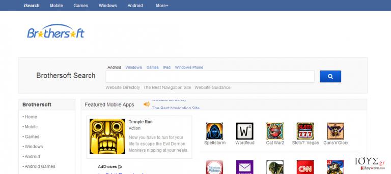 Στιγμιότυπο του isearch.brothersoft.com