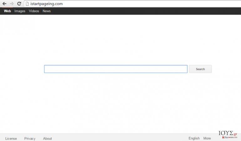 Στιγμιότυπο του Ιός Istartpageing.com