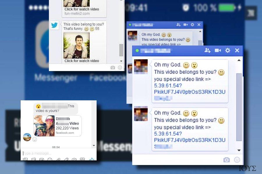 """Το μήνυμα που δείχνει ο ιός """"Is that you"""" Facebook virus"""
