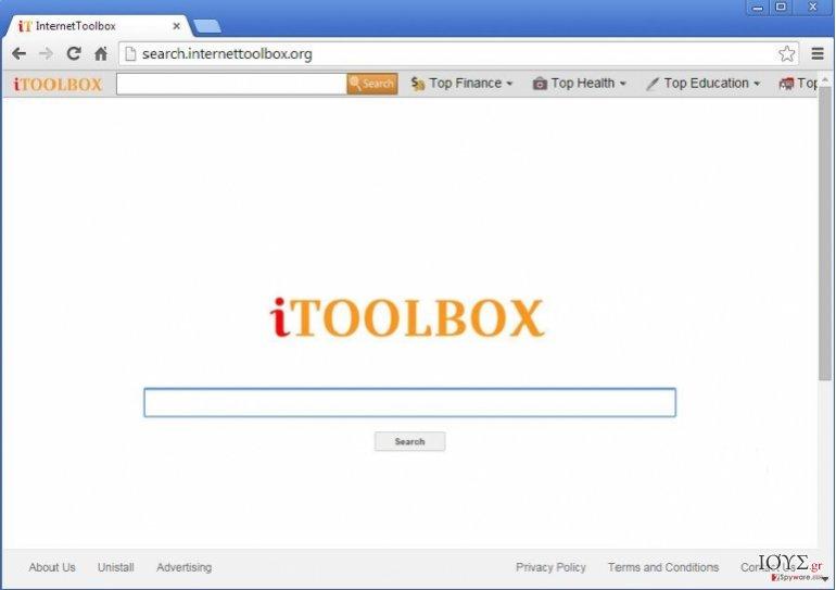 Στιγμιότυπο του iToolbox Toolbar