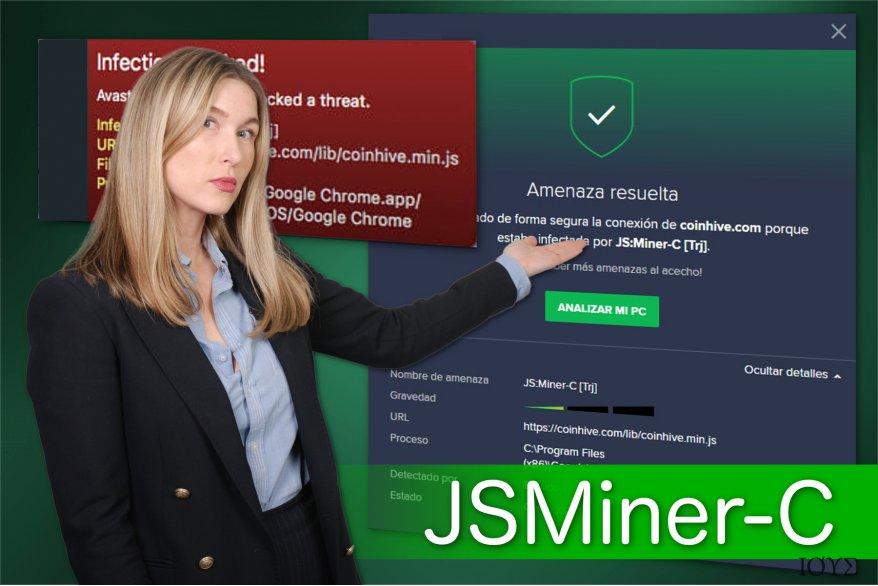 Απεικόνιση του JSMiner-C trojan