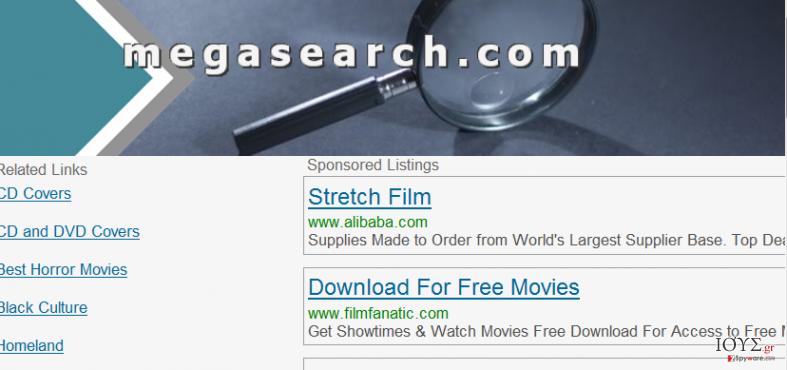 Στιγμιότυπο του MegaSearch