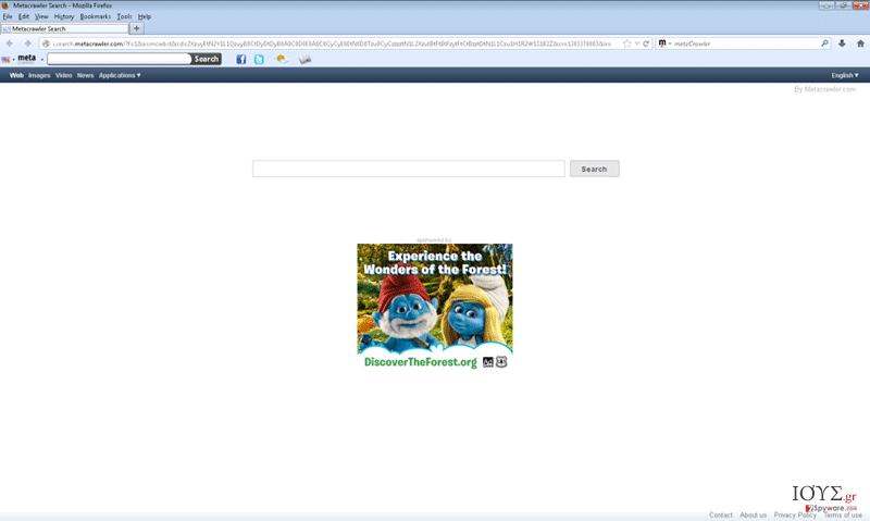 Στιγμιότυπο του Metacrawler Toolbar