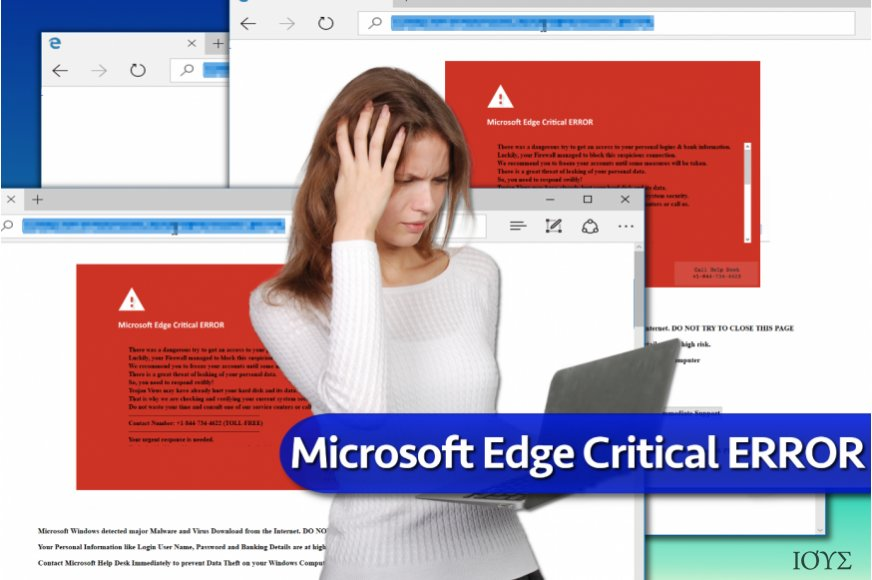Microsoft Edge Critical ERROR scam