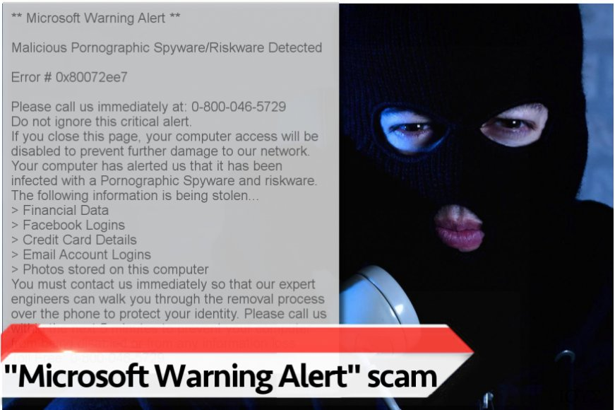 "Scam ιός τεχνικής υποστήριξης ""Microsoft Warning Alert"""