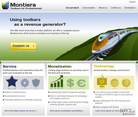 Στιγμιότυπο του Montiera Toolbar