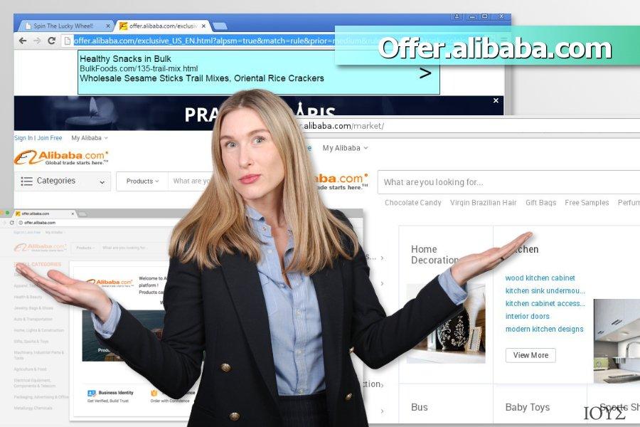 Στιγμιότυπο του Διαφημίσεις Offer.alibaba.com