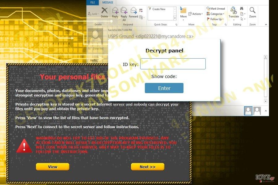 Ο ιός Gebdp3k7bolalnd4.onion ransomware