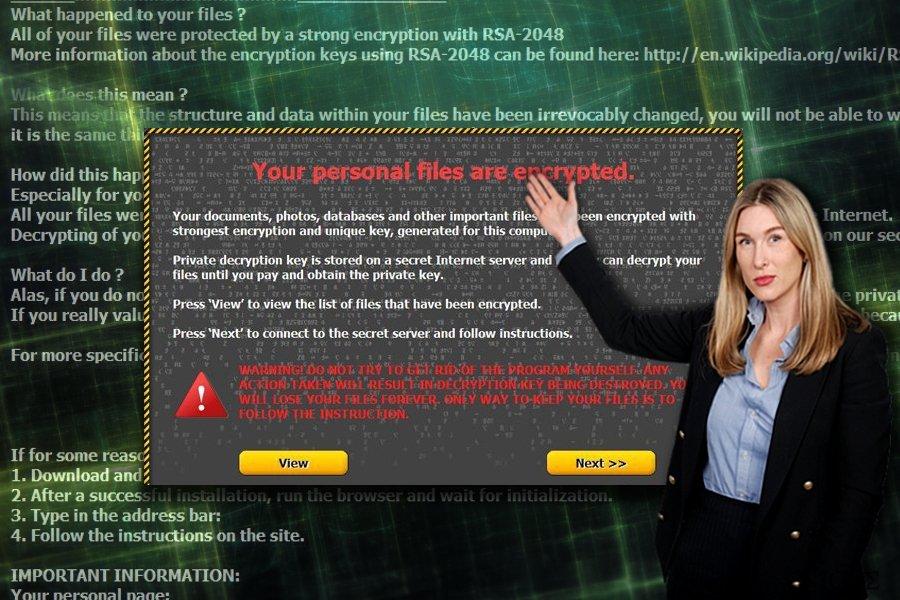 Στιγμιότυπο λήψης οθόνης του σημειώματος λύτρων του ιού Onion ransomware