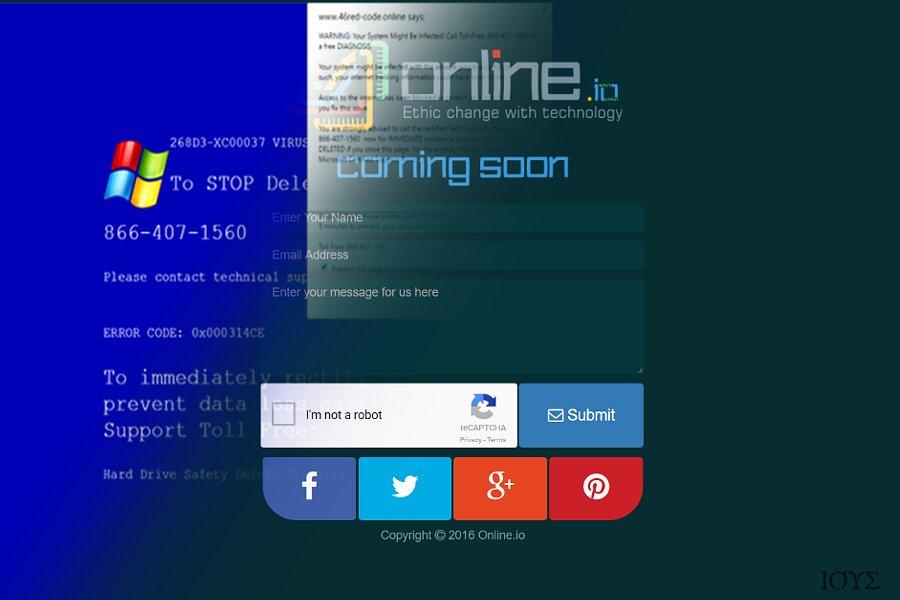 Στιγμιότυπο του Ιός Online.io