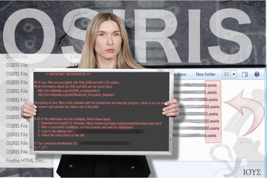 Στιγμιότυπο του Ιός Osiris ransomware
