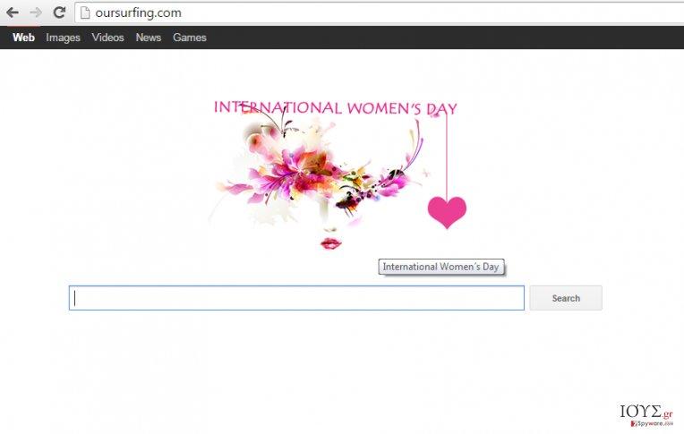 Στιγμιότυπο του Ανακατευθύνσεις Oursurfing.com