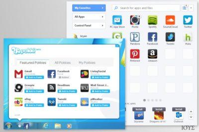Στιγμιότυπα οθόνης (screenshots) του Pokki app