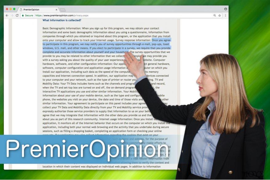 Στιγμιότυπο του PremierOpinion ιός