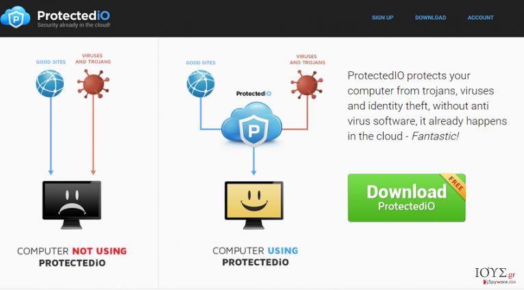 Στιγμιότυπο του Search.protectedio.com