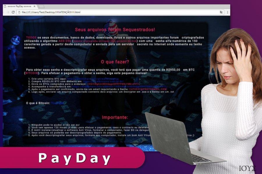 Απεικόνιση του ιού PayDay ransomware