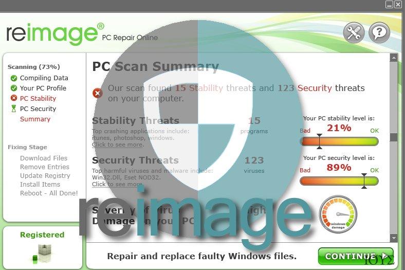 Στιγμιότυπο του Reimage ΙΟΣ