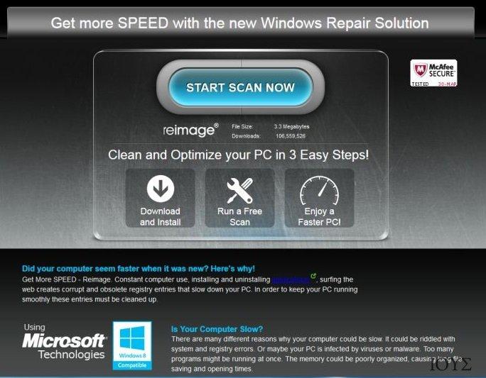 Στιγμιότυπο του Διαφημίσεις ReimagePlus.com
