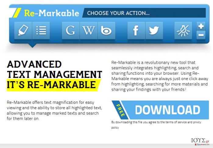 Στιγμιότυπο του Διαφημίσεις από τον  ReMarkable virus
