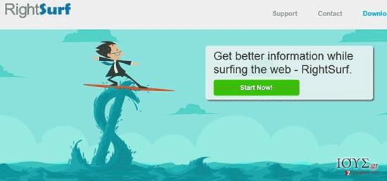 Στιγμιότυπο του RightSurf διαφημίσεις