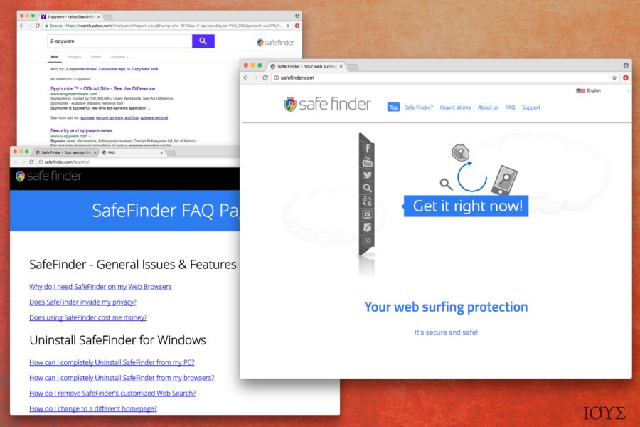 Στιγμιότυπο του Ιός Safe Finder