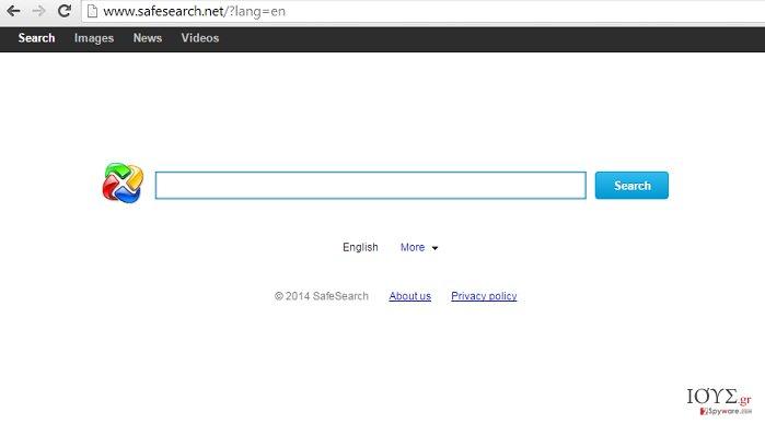 Στιγμιότυπο του Ανακατευθύνσεις από SafeSearch.net