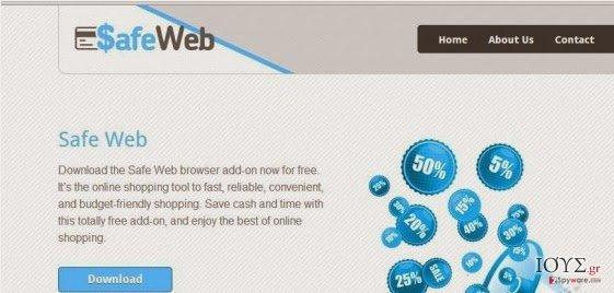 Στιγμιότυπο του SafeWeb adware