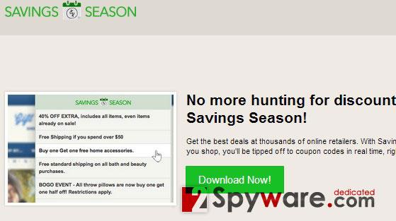 Στιγμιότυπο του Savings Season Διαφημίσεις