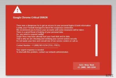 Στιγμιότυπο οθόνης Google Chrome Critical Error