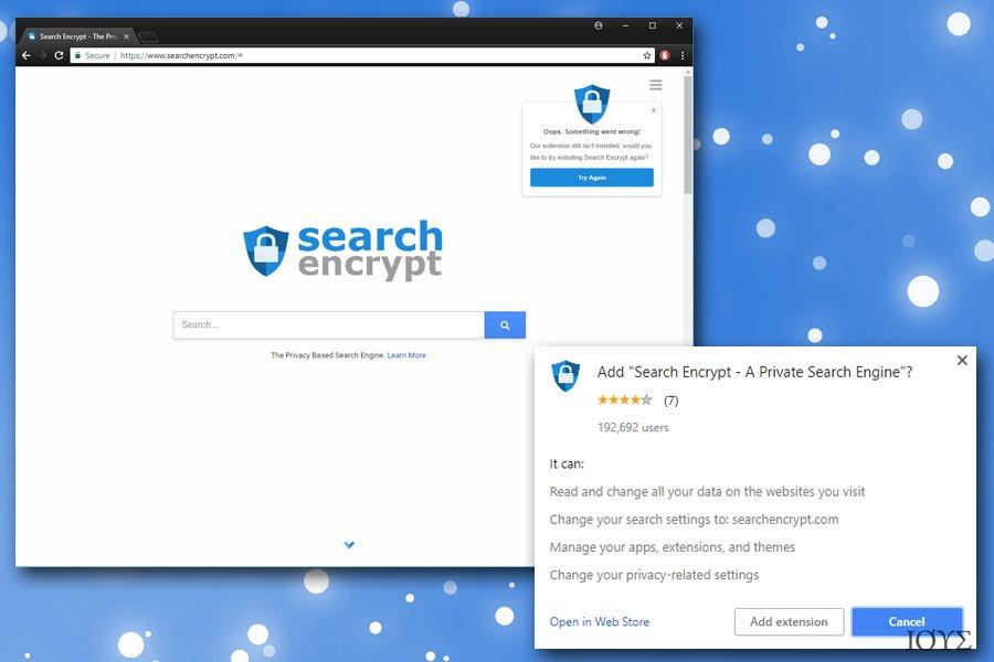 Στιγμιότυπο του Search Encrypt