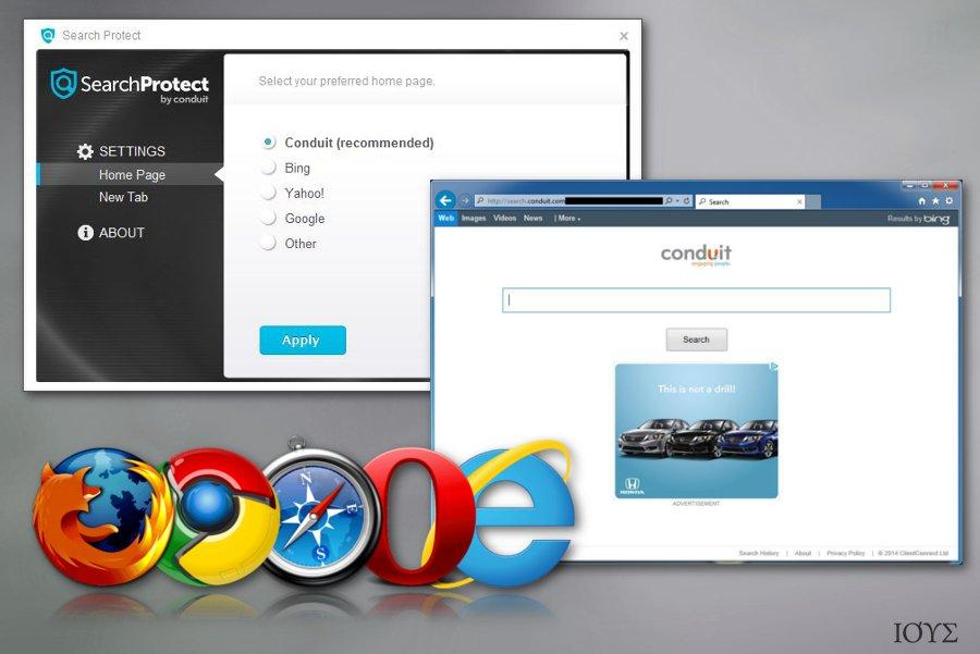 Στιγμιότυπο του Search Protect