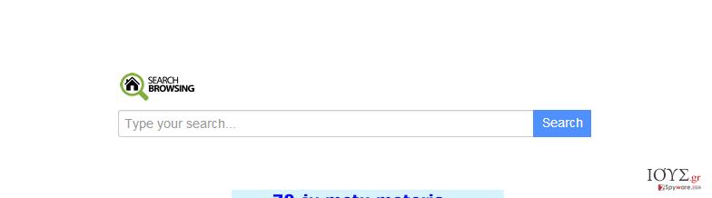 Στιγμιότυπο του searchbrowsing.com ανακατευθύνσεις