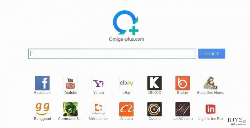 Στιγμιότυπο του Ιός Searches.omiga-plus.com