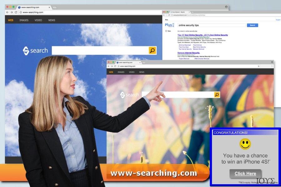 Στιγμιότυπο του Ιός www-searching.com