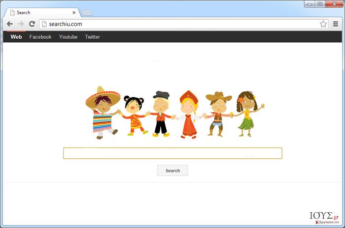 Στιγμιότυπο του Searchiu.com virus