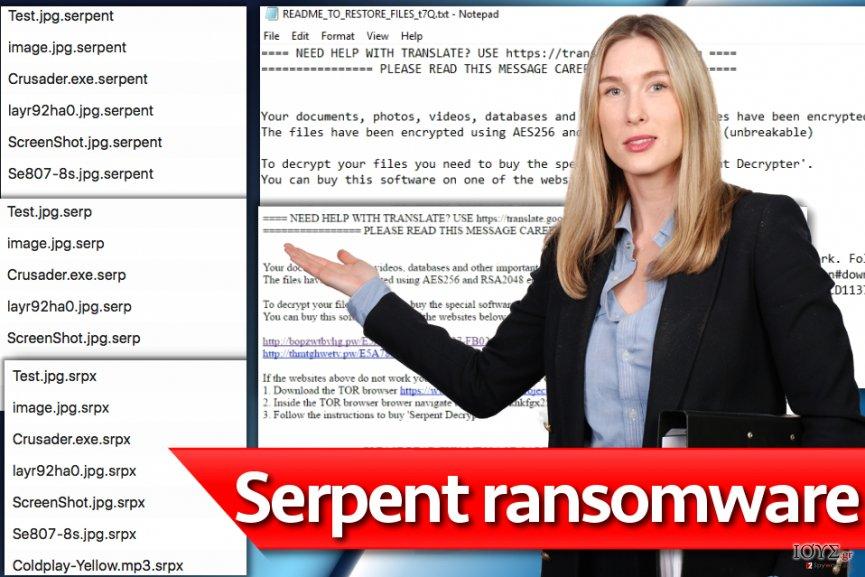 Στιγμιότυπο του Ιός Serpent ransomware