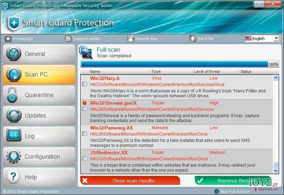 Στιγμιότυπο του Smart Guard Protection