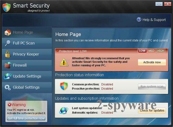 Στιγμιότυπο του Smart Security ιός