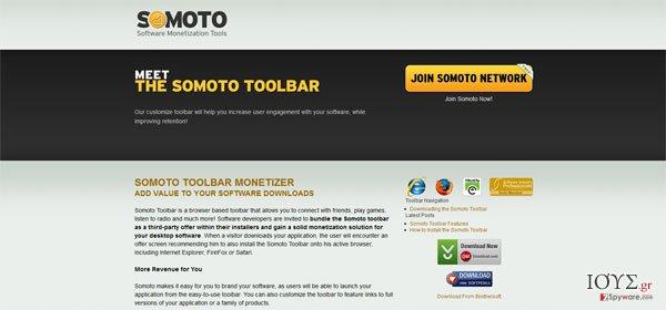 Στιγμιότυπο του Somoto Toolbar