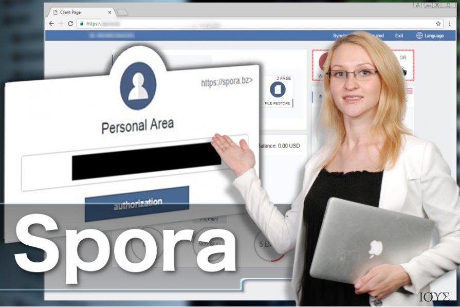 Στιγμιότυπο του Ιός Spora ransomware