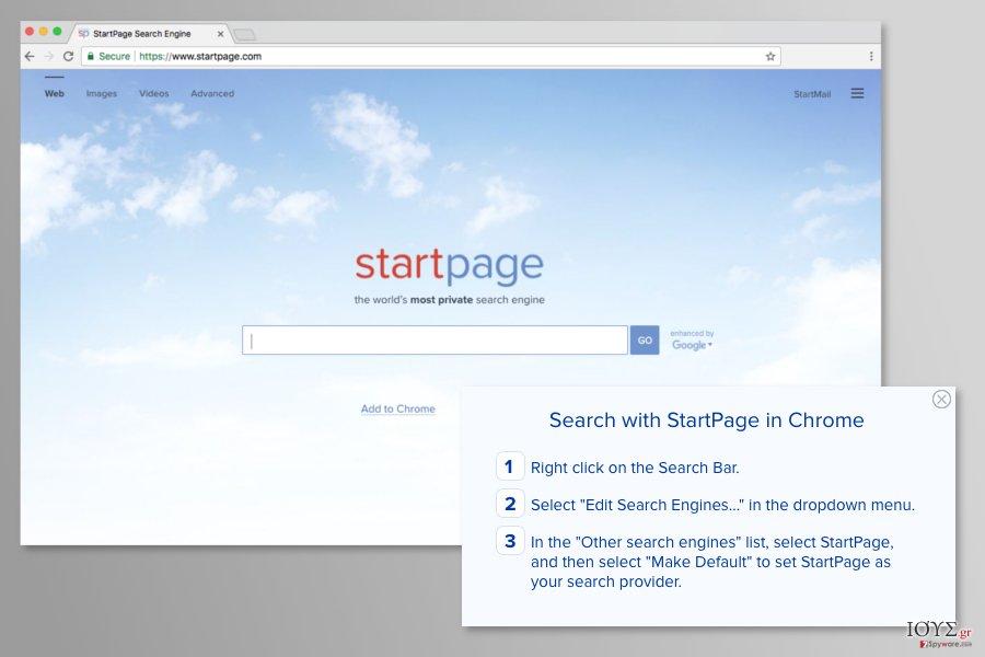 Startpage.com virus