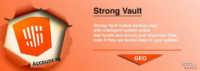 Στιγμιότυπο του StrongVault Online Backup