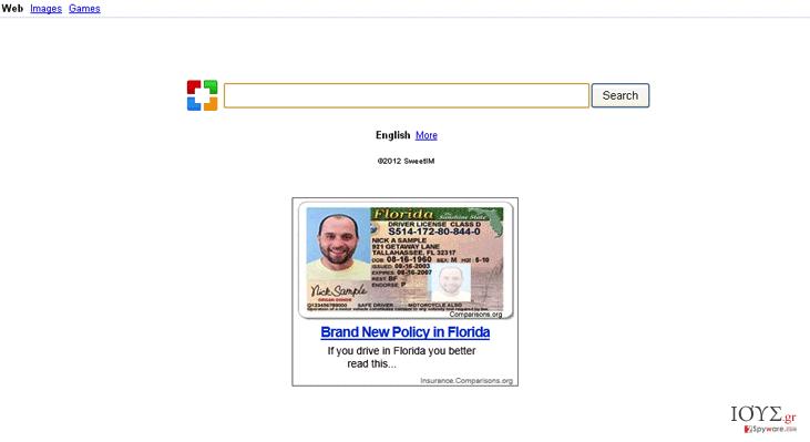 Στιγμιότυπο του Sweetim.com virus