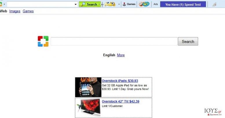 Στιγμιότυπο του Sweetpacks Toolbar