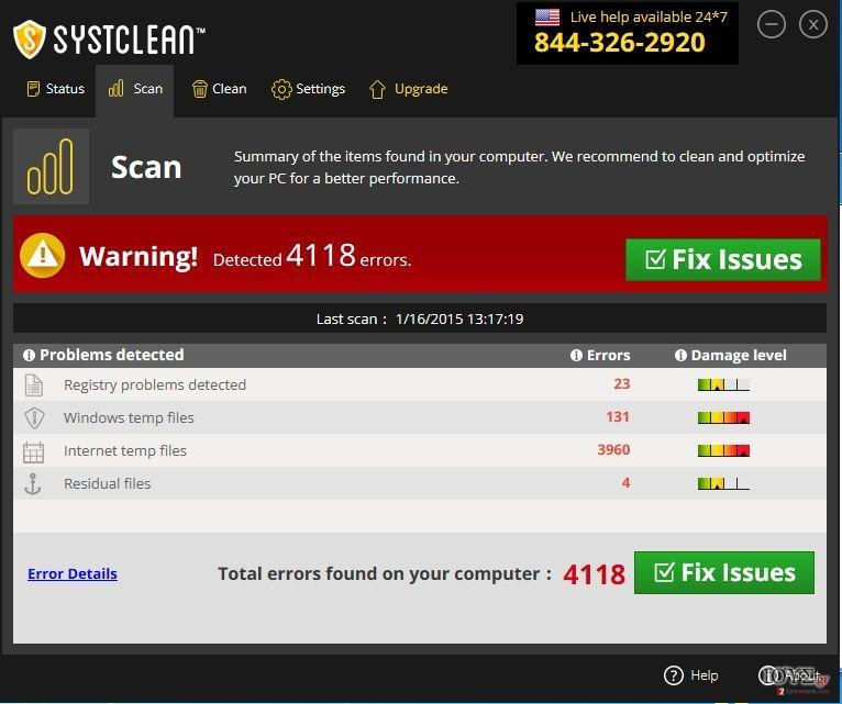 Στιγμιότυπο του Ιός SystClean