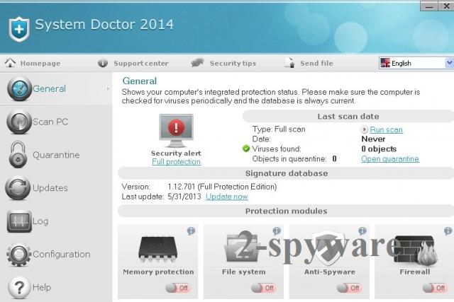 Στιγμιότυπο του System Doctor 2014